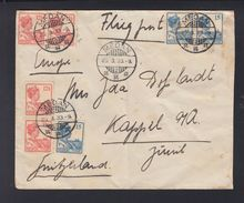 Netherlands India Air Mail Cover 1933 Medan To Switzerland - Netherlands Indies