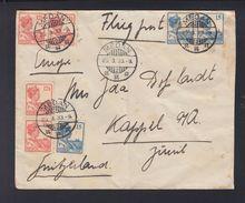 Netherlands India Air Mail Cover 1933 Medan To Switzerland - Indes Néerlandaises