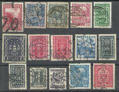 Perfins Austria, 15 Old Stamps - Briefmarken