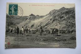 CPA 12 AVEYRON CRANSAC. Une Prise De Remblai. 1910. - France