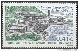 TAAF 2003 Yvert 349 Neuf ** Cote (2015) 1.70 Euro L'Usine Langoustière De Saint-Paul - Terres Australes Et Antarctiques Françaises (TAAF)