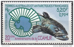 TAAF 2001 Yvert 307 Neuf ** Cote (2015) 7.00 Euro 20 Ans CCAMLR - Terres Australes Et Antarctiques Françaises (TAAF)