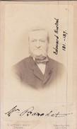 Photos Originales  Anciennes CDV   Photo Homme Edouard Hurtrel Photo E Appert Paris 1860  Ref 131 - Photos