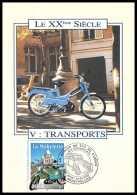 5316/ Carte Maximum (card) France N°3472 Le Siécle Au Fil Du Timbre,Transports: La Mobylette - Cartes-Maximum
