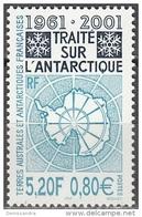 TAAF 2001 Yvert 306 Neuf ** Cote (2015) 7.00 Euro 40 Ans Traité Sur L'Antarctique - Neufs