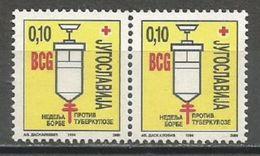 Yugoslavia,TBC1994.,in Pair,MNH - 1992-2003 Federal Republic Of Yugoslavia