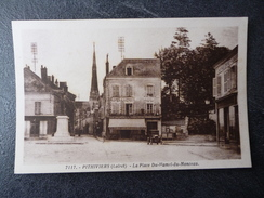 Cpa 45 Pithiviers Place Du Hamel Deu Monceau - Pithiviers