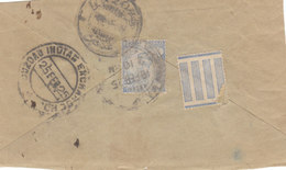 India 1925 BOMBAY Reverse Of Cover 3a INDIAN EXCHANGE (26) - India (...-1947)