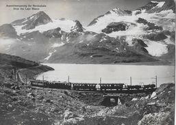 BERNINA - BAHN → Aussichtswagenzug Beim Lago Bianco Anno 1934 - GR Graubünden