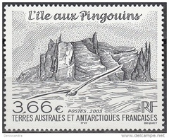 TAAF 2003 Yvert 362 Neuf ** Cote (2015) 14.20 Euro L'île Aux Pingouins - Ungebraucht