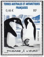 TAAF 2002 Yvert 348 Neuf ** Cote (2015) 7.50 Euro Couple De Manchots - Ungebraucht