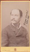 Photos Originales  Anciennes CDV   Photo Homme Georges  Hurtrel Photo Mallart Lille 1880 Ref 137 - Photos