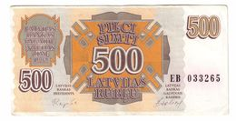 Latvia 500 Rublu 1992  .J. - Lettonie