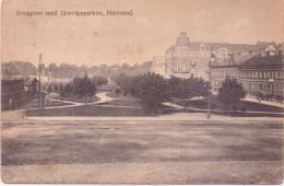 ALTE  AK   HALMSTAD / Schweden  - Bredgatan Med Järnvägsparken -  Gelaufen 1920 Ca. - Suède