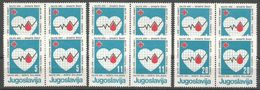 Yugoslavia,Red Cross 1986.,in Pairs,MNH - 1945-1992 Socialist Federal Republic Of Yugoslavia