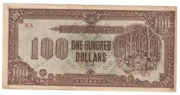 Malaya Japanese Occupation 100 Dollars 1944  .J. - Malesia