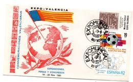 Carta Con Matasellos Commemorativo Expomundial Valencia Y Sello Plan Sur Con Bandelete Expo Valencia. - 1931-Hoy: 2ª República - ... Juan Carlos I