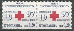 Yugoslavia,Red Cross 1997.,in Pair,MNH - 1992-2003 Federal Republic Of Yugoslavia