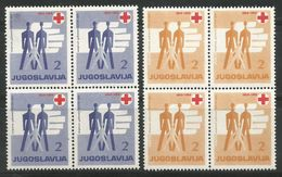Yugoslavia,Red Cross 1959.,blocks Of Four,MNH - Unused Stamps