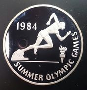 """JAMAICA 10 DOLLARS 1984 SILVER PROOF """" Summer Olympics Games 1984"""" Free Shipping Via Registered Air Mail - Jamaica"""