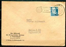 """DDR,GDR 1952 Bedarfsbrief/Cover Mit Mi.Nr.432 Und Propaganda MWST""""Berlin N4-Lernt Von Stalin,Lern Von Der SU....""""1 Beleg - DDR"""