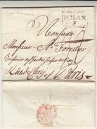 Prefilatelica, Piacenza Per Parigi Via Milano. Lettera Con Contenuto 1787 - Italie
