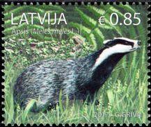 Latvia - 2017 - Animals - European Badger - Mint Stamp - Lettland