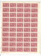 CANADA 1937 KING GEORGE VI CORONATION #237 FULL SHEET (P.B. #1 LR) MNH C.V. $31.25 UNFOLDED - 1937-1952 George VI