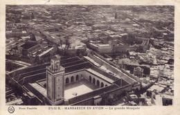 Marrakech En Avion - La Grande Mosquée 1931 (002157) - Marrakech