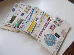 Indonesien 125 Stk. 1954 - 84 FDC / R-Briefe / Luftpost Alles Echt Gelaufen! Einige Blocks 80er Jahre Und 1 Numisbrief. - Indonesien