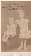 Photos Originales  Anciennes CDV  Photo Louis Artus Et Jacques Baudrier Née PIAT Photo Chambay Paris 1870 Ref 148 - Photos