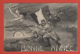 CP42 HISTOIRE  Bonne Année 1915 Victoire - Historia