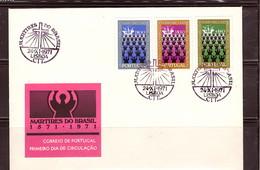 "- PORTUGAL 1971 ""MISSIONARIES 400th ANNIV"" #1116-1118 MNH FDC - 1910-... República"