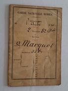 1870 Carnet De Garde Nationale Mobile 2è Bataillon 3è Compagnie- Troyes - Mr Marquot - Documents