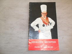 Koken  Kookboek  Recepten - Heerlijke Recepten Van Meester - Kok François Van Hecke - Autres Collections