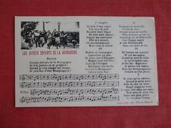 Enfants De La Bourgone Song Card  -ref 2751 - Europe