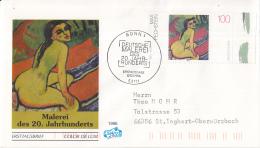 Duitsland - FDC 7-3-1996 - Deutsche Malerei Des 20. Jahrhunderts (V) - Michel 1843-1845 - FDC: Briefe