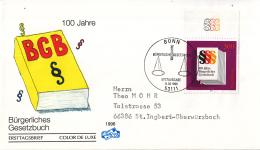 Duitsland - FDC 14-8-1996 - 100 Jahre Bürgerliches Gesetzbuch - Michel 1874 - FDC: Briefe