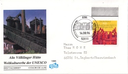 Duitsland - FDC 14-8-1996 - UNESCO-Welterbe (II): Alte Völklinger Hütte  - Michel 1875 - UNESCO