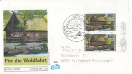 Duitsland - FDC 9-10-1996 - Wohlfahrt: Bauernhäuser In Deutschland (II) - Michel 1883-1887 - FDC: Briefe