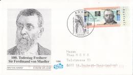 Duitsland - FDC 9-10-1996 - 100. Todestag Von Freiherr Sir Ferdinand Von Mueller - Michel 1889 - FDC: Briefe