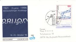 Duitsland - FDC 18-10-1996 - 75 Jahre Donaueschinger Musiktage - Michel 1890 - FDC: Briefe