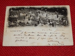 MILITARIA  -  BRASSCHAAT -  BRASSCHAET POLYGONE  - La Troupe Au Bain -  1901 - Kazerne
