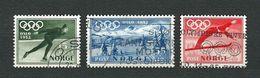 NORVEGIA 1951 - Giochi Olimpici Invernali Di Oslo - Mi:NO 272-74 - Usati
