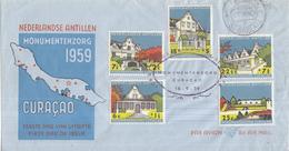 Nederlandse Antillen - FDC E10 - Monumentenzorg - NVPH 298 - 302 - Curaçao, Nederlandse Antillen, Aruba
