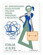 Italia Repubblica 2017 Associazione Italiana Donne Ingegneri E Architetti Euro 0,95 MNH ** Integro - 2011-...:  Nuovi