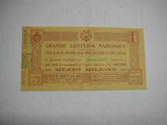 LOTTERIA  --CONCORSO  - TOMBOLA  --- ROMA  -1928 -- X CASSA DI MUTUO SOCCORSO DELLA R. ACCADEMIA DI S. CECILIA - Billetes De Lotería