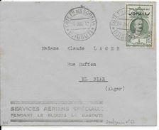 BLOCUS De DJIBOUTI - 1942 - LETTRE Par AVION SERVICE SPECIAL => EL BIAR (ALGERIE) - Côte Française Des Somalis (1894-1967)