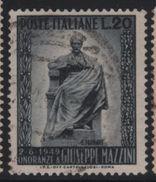 1949 Francobolli Repubblica  Mazzini - 1946-60: Usati