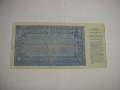 LOTTERIA  --CONCORSO  - TOMBOLA  --- POLA   --  1933 -- LOTTERIA ISTRIANA -COMITATO NASTRO AZZURRO- LEGA NAVALE - Billetes De Lotería